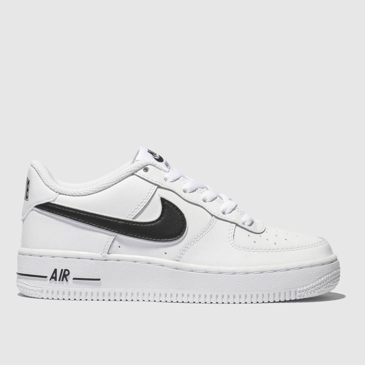 Nike White & Black Air Force 1-3 Trainers Youth