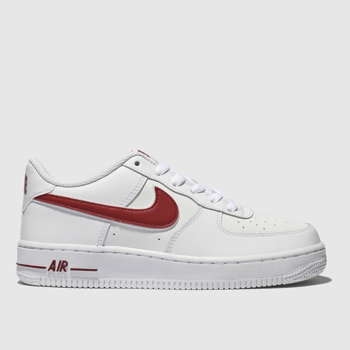 Nike White & Red Air Force 1-3 Trainers Youth