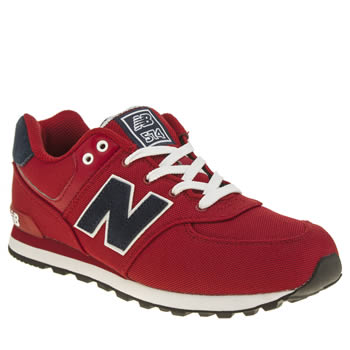 New Balance Red 574 Polo Unisex Youth