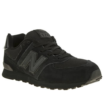New Balance Black 574 Unisex Youth