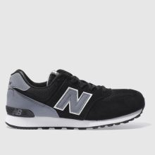 New Balance Black & Grey 574 Unisex Youth