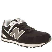 New Balance Black & White 574 Unisex Youth