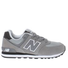 New Balance Grey & Black 574 Unisex Youth