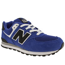 Youth Blue New Balance 574 Varsity
