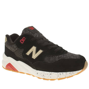 New Balance Black & Gold 580 Lost Worlds Unisex Youth