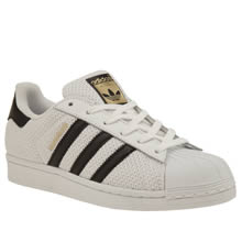 Adidas White & Black Superstar Mesh Unisex Youth