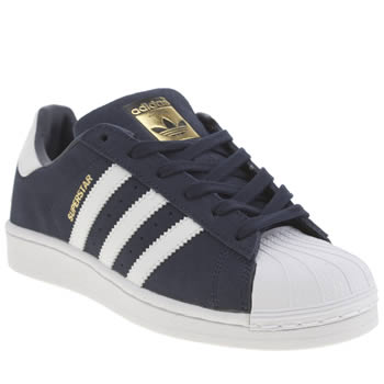 Adidas Navy & White Superstar Unisex Youth