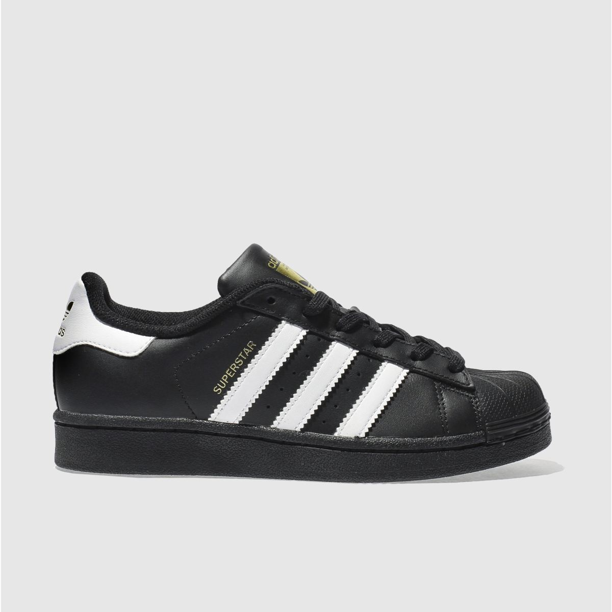 adidas black & white superstar Boys Youth Trainers