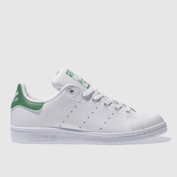 Unisex Adidas White & Green Stan Smith Unisex Youth