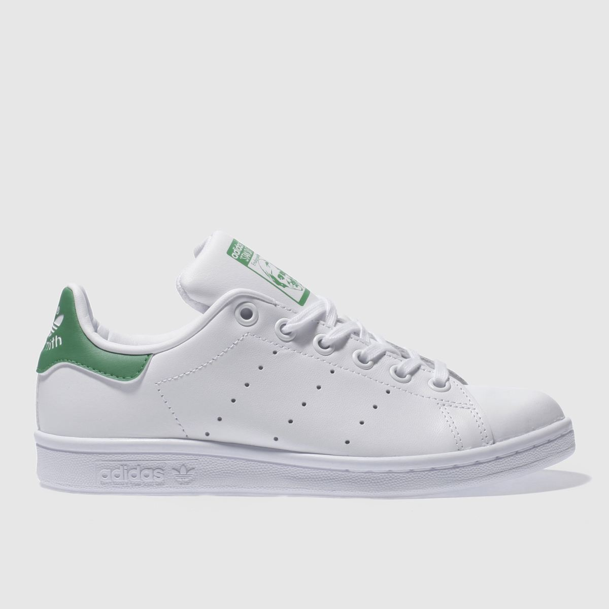 adidas white & green stan smith Boys Youth Trainers