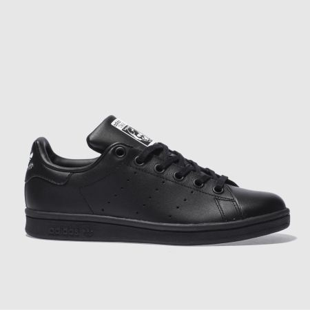 adidas black stan smith unisex youth