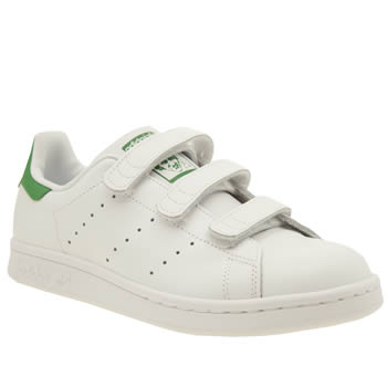 Adidas White & Green Stan Smith Comfort Unisex Youth
