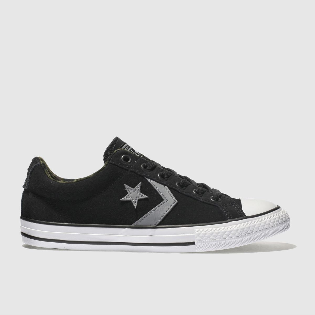 Converse Black & Grey Star Player Ox Unisex Youth Youth