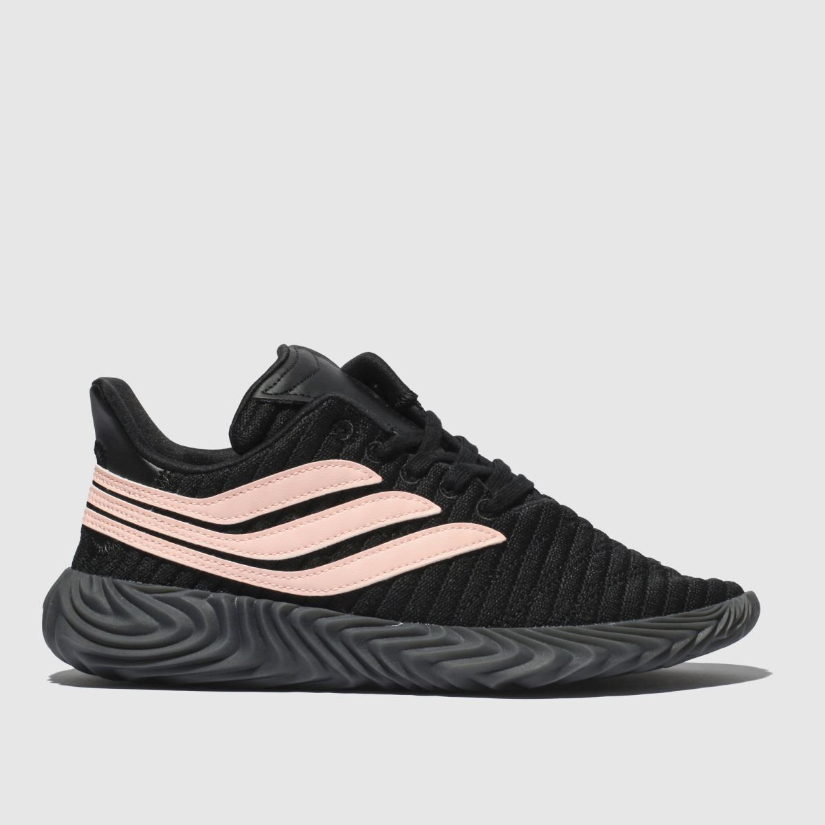 Adidas Black & Pink Sobakov Modern Trainers Youth