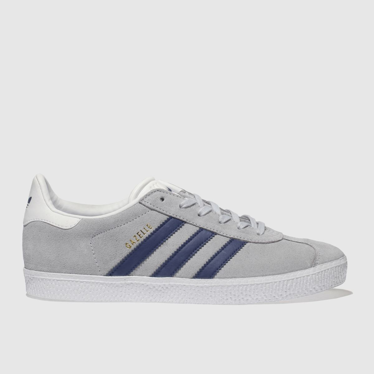 Adidas Grey & Navy Gazelle Trainers Youth