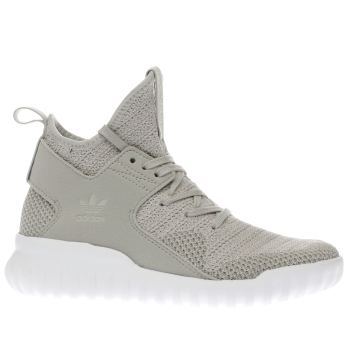 ADIDAS STONE TUBULAR X PRIMEKNIT YOUTH TRAINERS