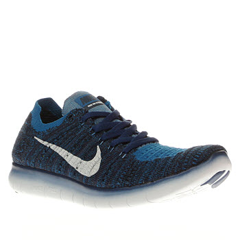 Nike Blue Free Rn Flyknit Unisex Youth