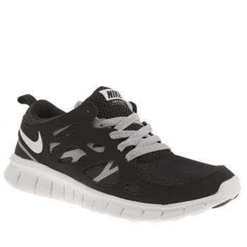 Nike Black & Grey Free Run 2 Unisex Youth