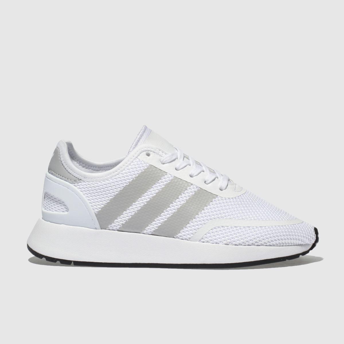 Adidas White & Grey N-5923 Unisex Youth Youth