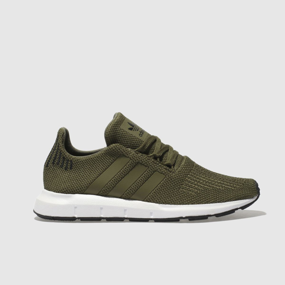 Adidas Khaki Swift Run Trainers Youth