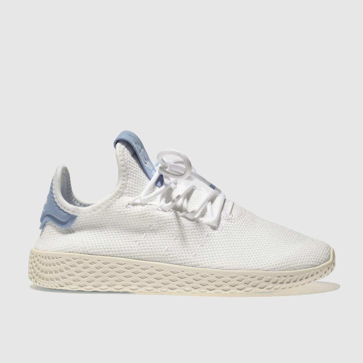 Adidas White & Blue Pharrell Williams Tennis Hu Unisex Youth Youth