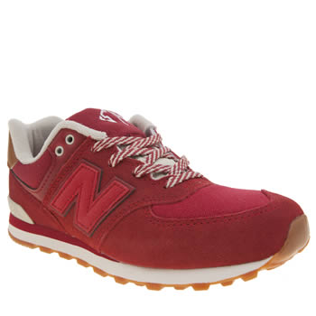 New Balance Red 574 New England Unisex Youth
