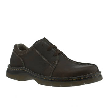Mens Dr Martens Brown Zack 3eye Shoes