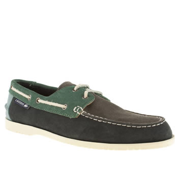 Mens Lacoste Navy & Green Corbon 7 Shoes