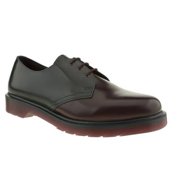 mens dr martens navy & red core 1461 shoes