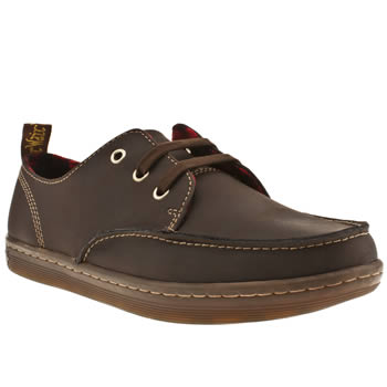 Mens Dr Martens Dark Brown Ted Moccasin Toe Shoes