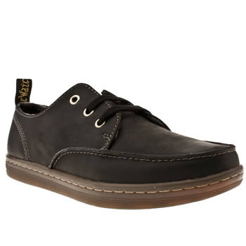 Mens Dr Martens Black Ted Moccasin Toe Shoes