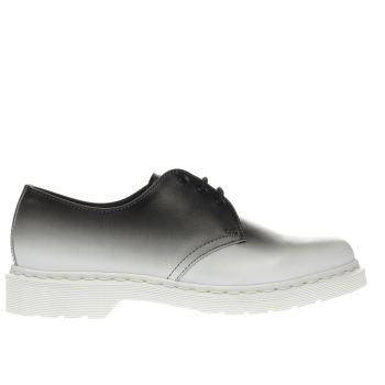 Dr Martens White & Black 1461 3 Eye Shoes