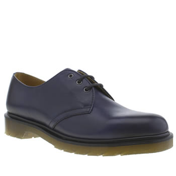 Mens Dr Martens Navy 1461 3 Eye Shoes
