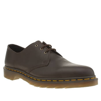 Mens Dr Martens Brown 1461 3 Eye Shoes