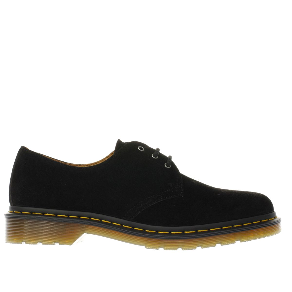 dr martens black 1461 3 eye shoes