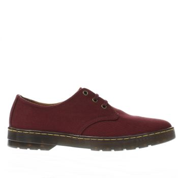 Mens Dr Martens Burgundy Cruise Delray 3 Eye Shoes