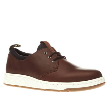 Dr Martens Brown Solaris 3 Eye Shoes