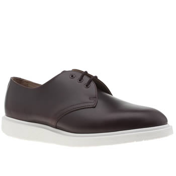 Dr Martens Burgundy Torriano 3 Eye Wedge Mens Shoes