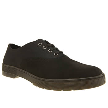 Dr Martens Black Lakewood 4 Eye Oxford Waxy Shoes