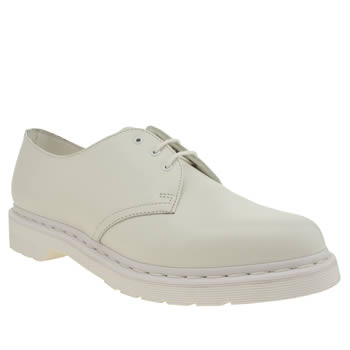 Mens Dr Martens White 1461 Mono Shoes