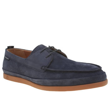 Mens Peter Werth Navy Caine Whip Stitch Shoes