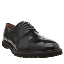 Peter Werth Black Laurie Brogue Mens Shoes