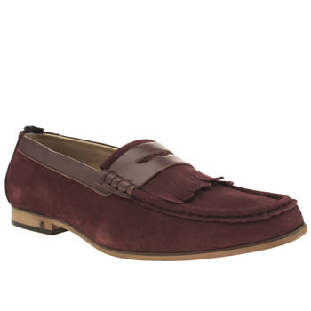 Mens Peter Werth Burgundy Statham Fringe Penny Shoes