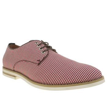 Mens Peter Werth Burgundy Nesbit Fabric Shoes