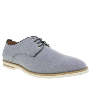 Mens Peter Werth Blue Nesbit Fabric Shoes
