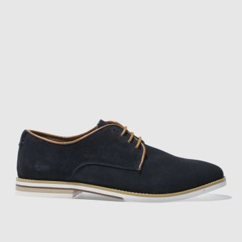 Mens Peter Werth Navy Nesbitt Split Derby Shoes