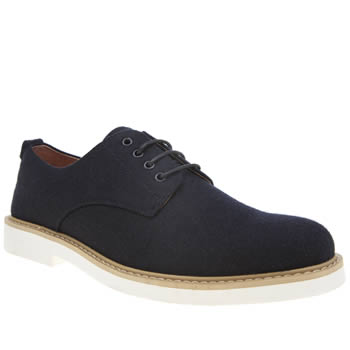 Peter Werth Navy Melton Derby Shoes