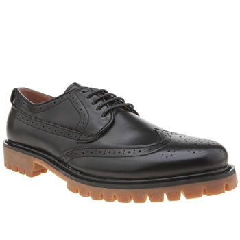 Peter Werth Black Oldman Brogue Shoes