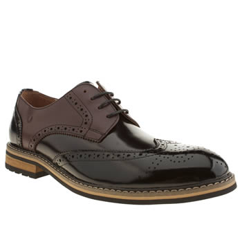 Mens Peter Werth Black & Brown Turnmill Multi Shoes