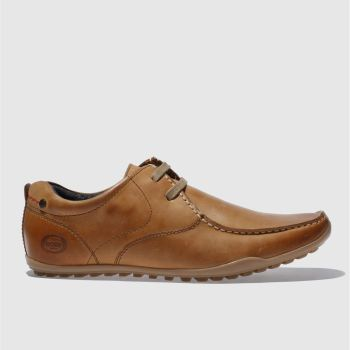 Base London Tan Armour Asymetric Shoes